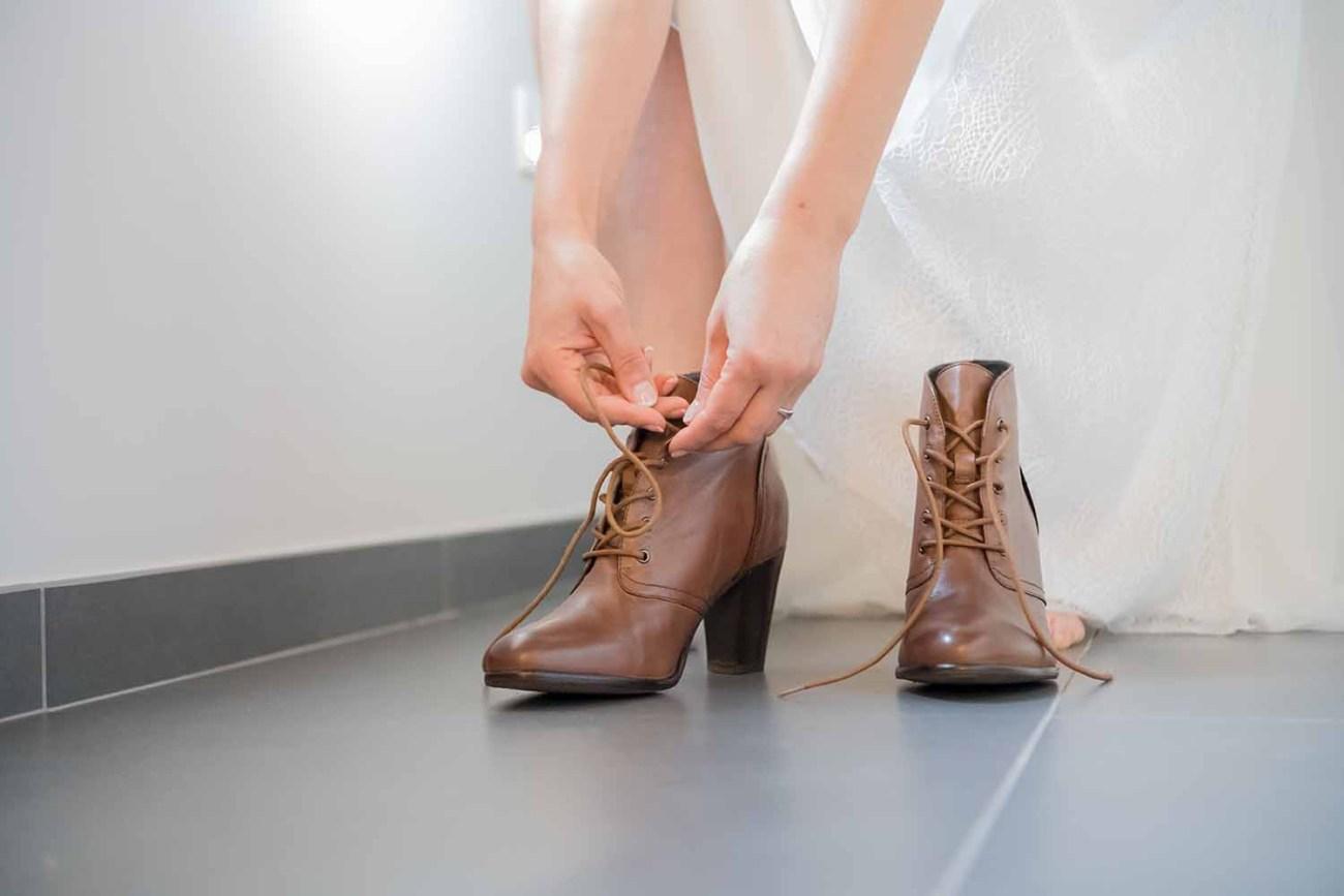 huwelijk bruid schoenen