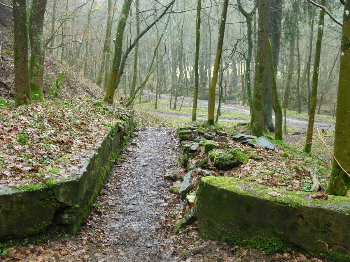 Reste einer Pulvermühle im Helental