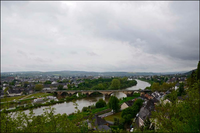 Blick auf Trier und die Mosel