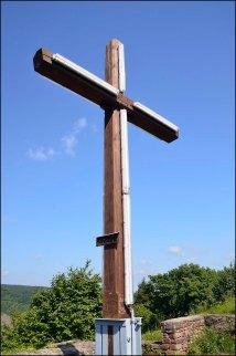 Und wiedermal ein Gipfelkreuz, dieses Mal auf dem Petersberg