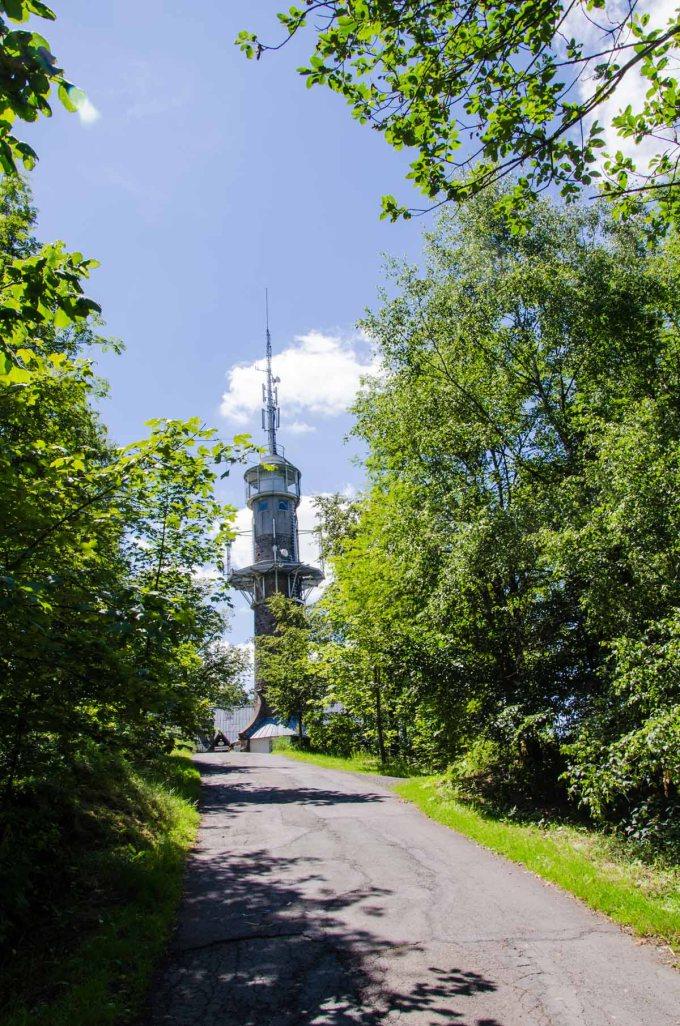 Der Kindelsbergturm auf 618 m Höhe über NN Nein ich war nicht oben :-)