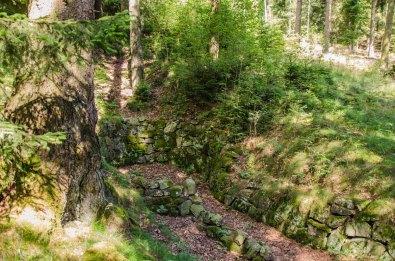 """Der Stollen """"Abraham"""" oberhalb der Martinshütte. Ein Mundloch erinnert noch daran"""