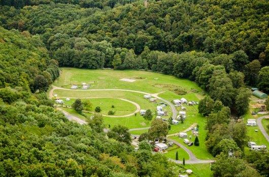 Blick auf Campingplatz Haumühle