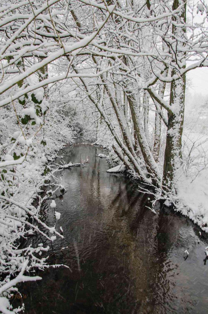 Romantische Schneelandschaft am Kurtekotten