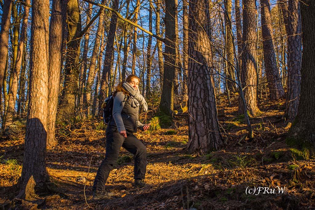 Tanja auf der Struffeltroute