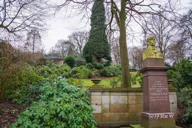 Wilhelm Werle Denkmal. Gründer des Barmer Verschönerungsvereins