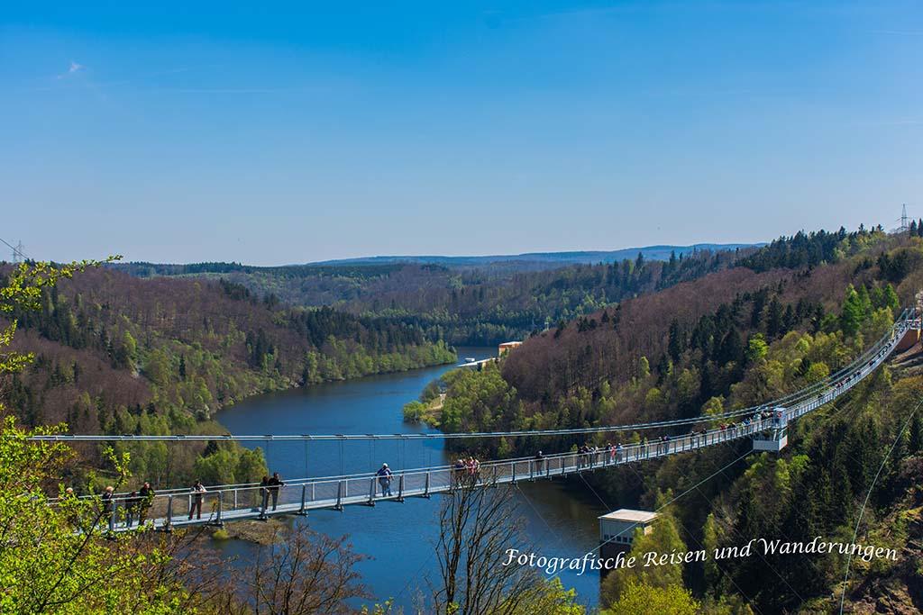 TOP Wandervorschläge im Harz - Hängebrücke Rappodetalsperre