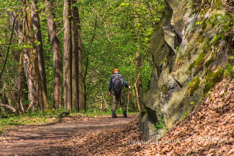 Wanderer im Bodetal