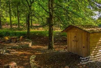 Rastplatz im Naturerlebniszentrum Wisent-Welt