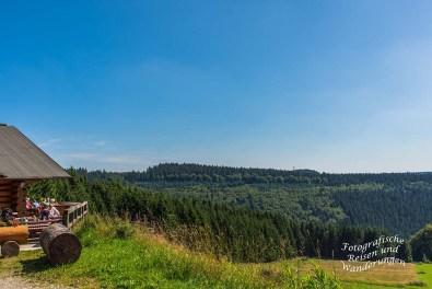 Ausblick von der Schwedenhütte am Altlastenberg