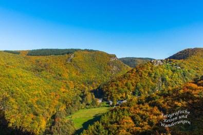 Ausblick auf Veldenz und das Schloss Veldenz