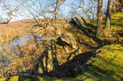 Felsen oberhalb der Rur