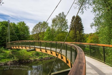 Wunderschöne Aggerbrücke am Bauernhofweg