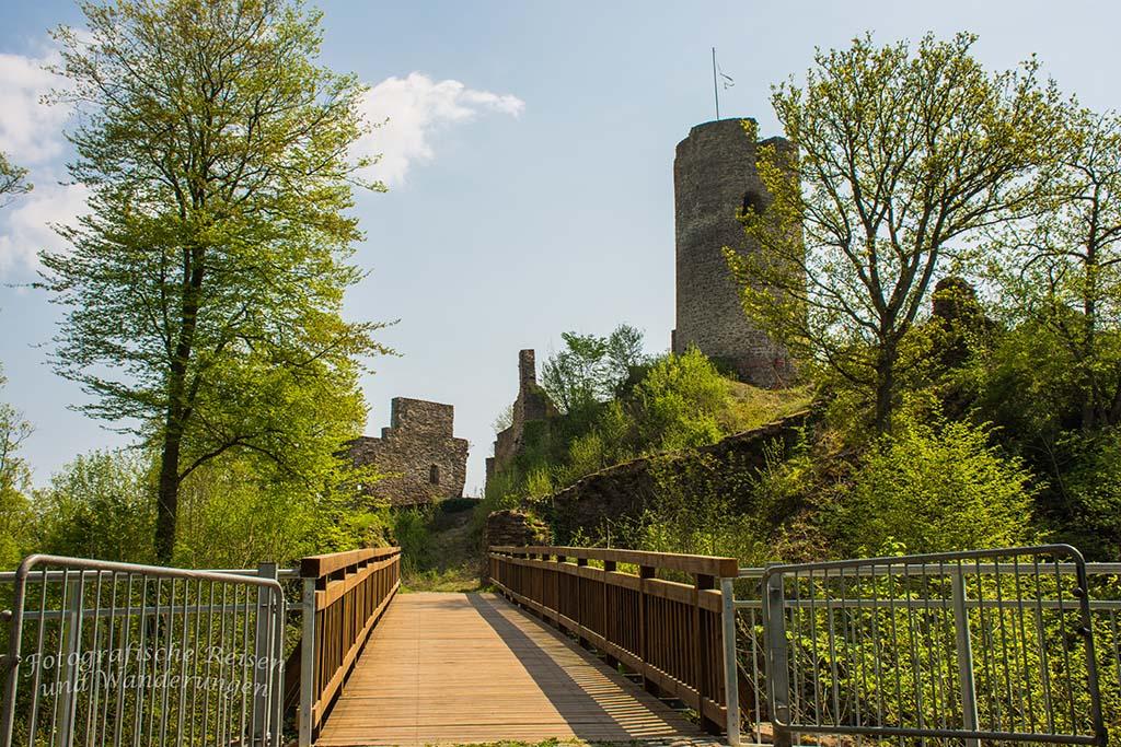 Winneburg Ruine - Brücke