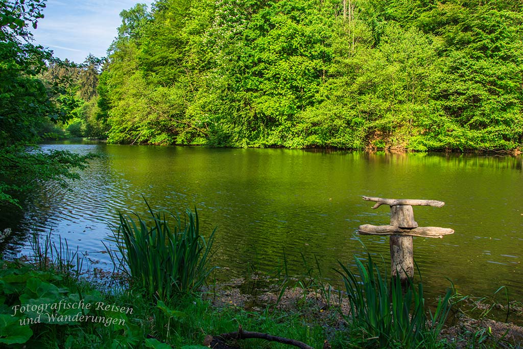 Der See an den Externsteinen, hintere Seite