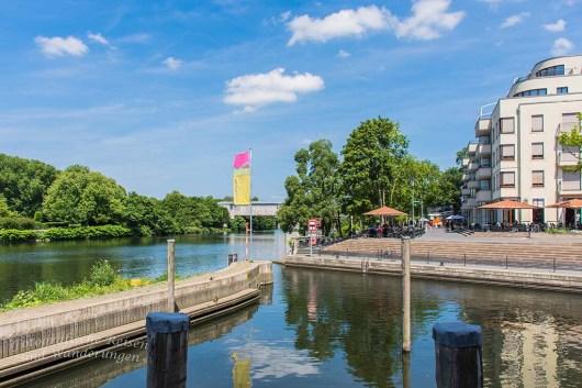 Hafen an der Ruhe in Mülheim