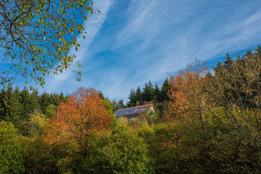 Blick auf meine Ferienwohnung Haus Am Raßberg - Einsame Wanderwege in Arft