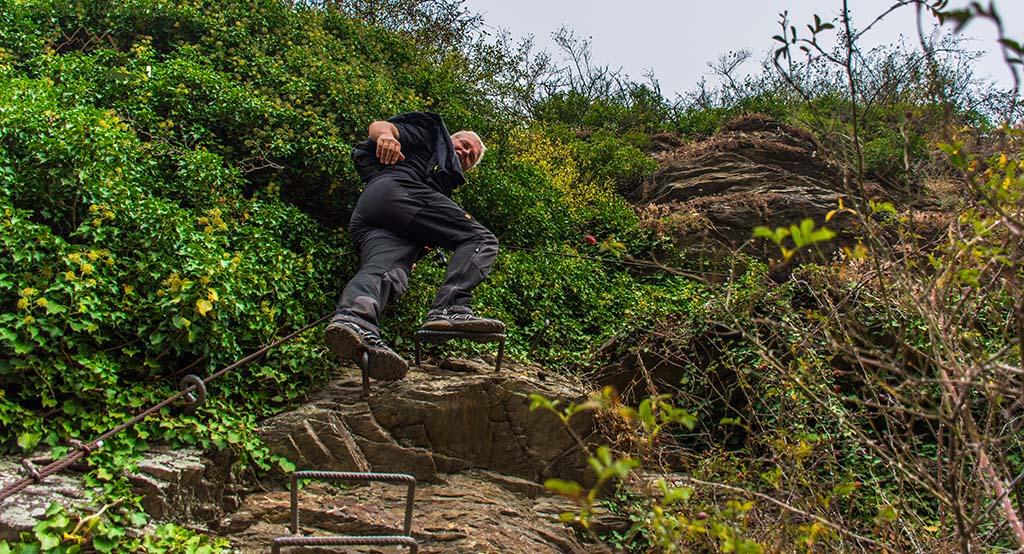 Winni auf dem Klettersteig