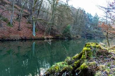 Die Sülz mit tief grünem Wasser
