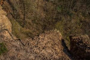 Abbruchkante Steinbruch
