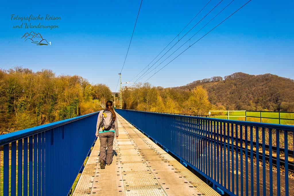 Brücke über die Sieg - Wandern bei Blankenberg an der Sieg