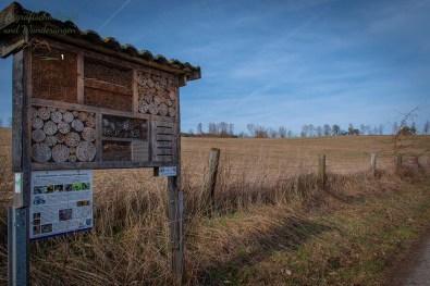 Bienenhotel auf der Wäller Tour Elberthöhen