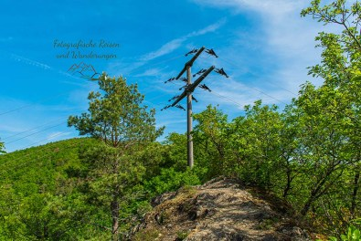 Strommast auf dem Gipfel