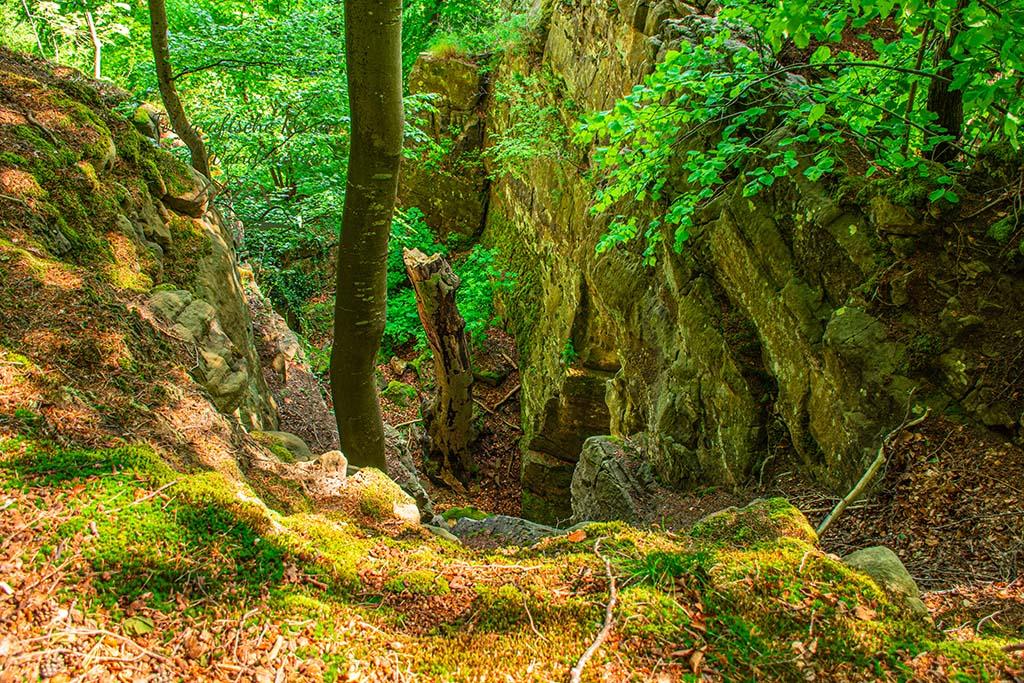 Ein BLick in die Tiefe der Felsenlandschaft