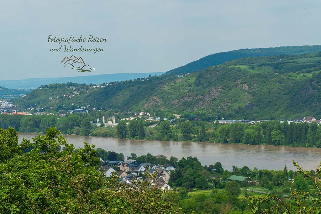 Aussicht auf den Rhein von der Theoretikerhütte