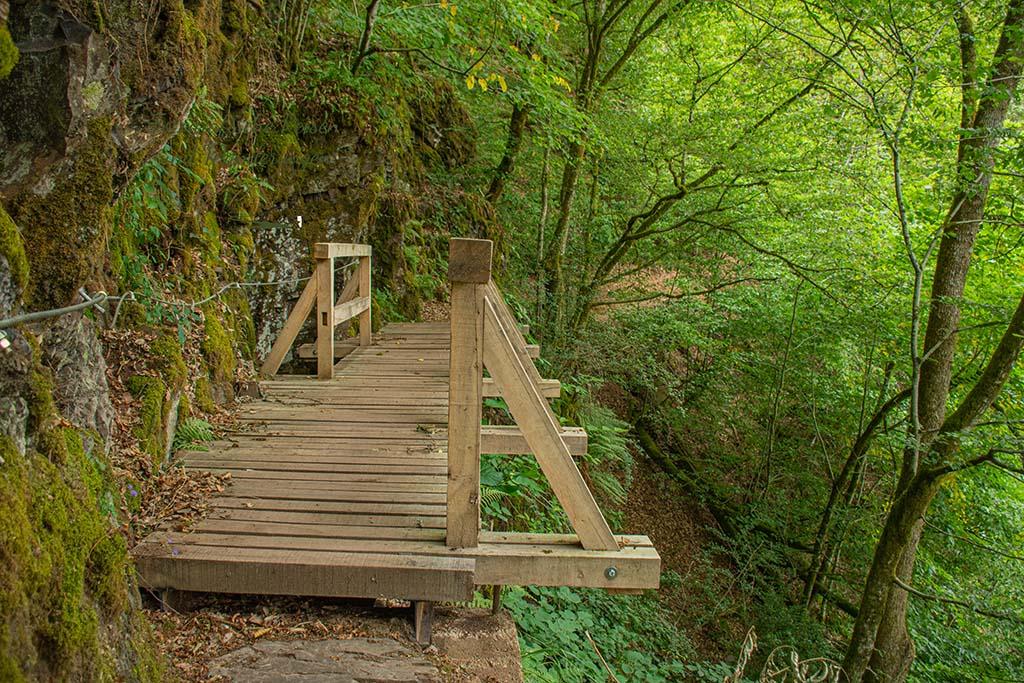 Die neue Brücke auf dem Lieserpfad