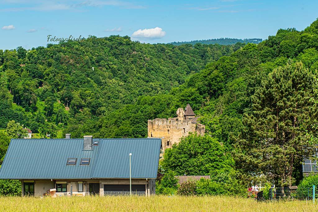 Blick auf Ruine Balduinstein
