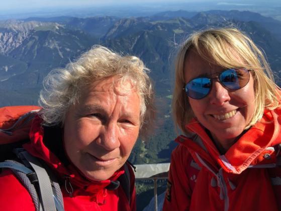 Wanderbloggerin auf der Zugspitze - Partnerschaften