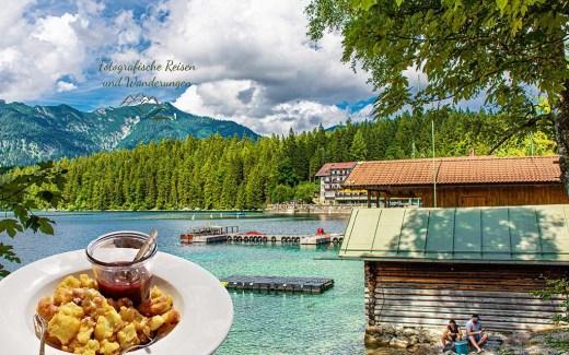 Kaiserschmarrn im Seerestaurant-Wanderbloggerin auf der Zugspitze-Finale am Eibsee