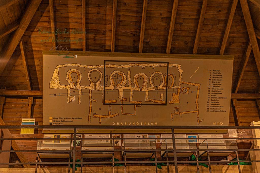 Darstellung der Industieanlage Römische Kalkbrennerei