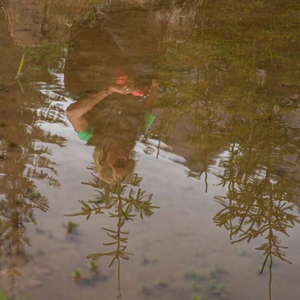 Blick ins Wasser, auf SPiegelbild