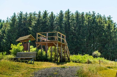 Aussichtskanzel im Naturschutzgebiet
