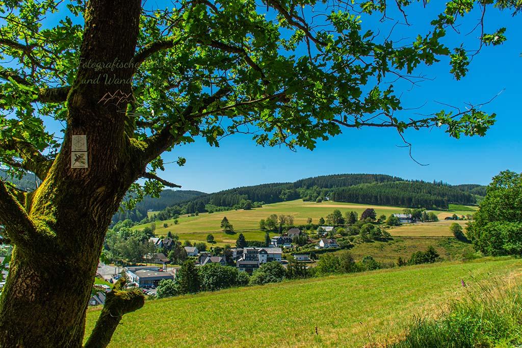 Dotzlar im Blick - Sandern im Siegerland