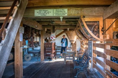 Das Innere der Seriemer Mühle