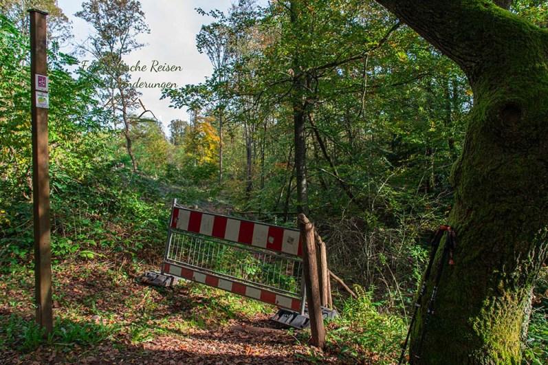 Sperre zur Brücke am Piesbach