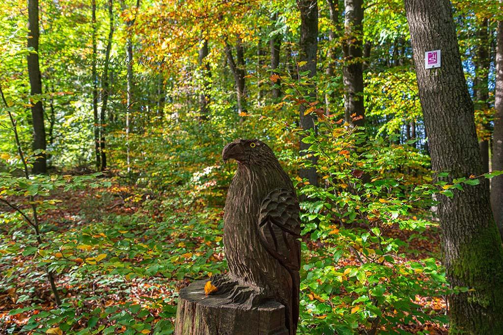 Holzfigur auf der Traumschleife Litermont Gipfeltour