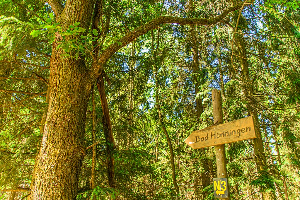 Altes Schild nach Bad Hönningen