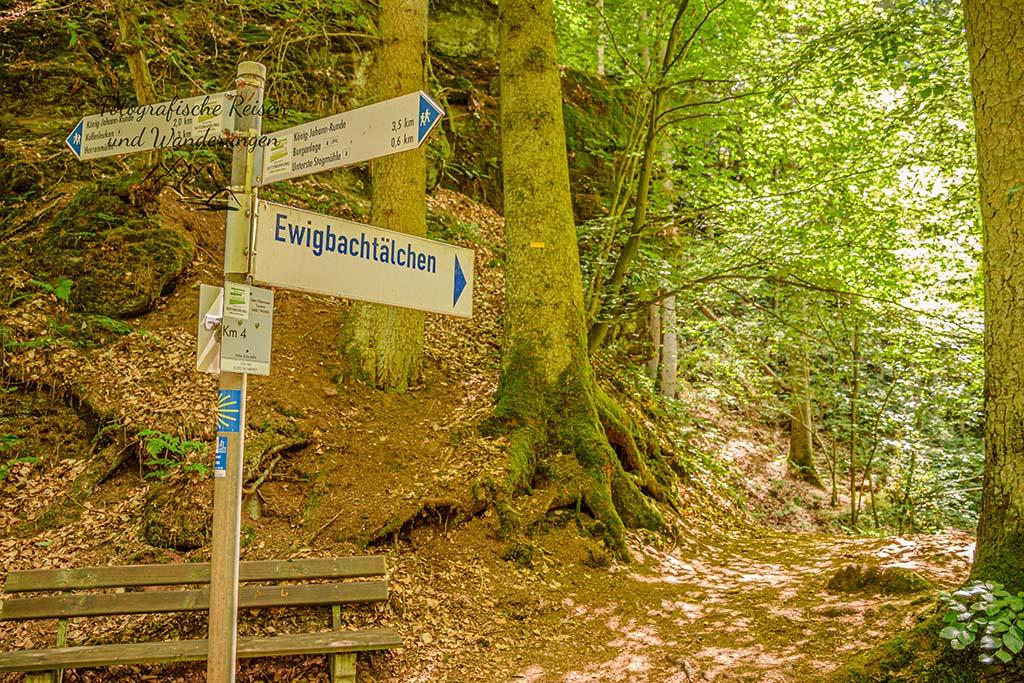 Abzweig zum Ewigbachtal