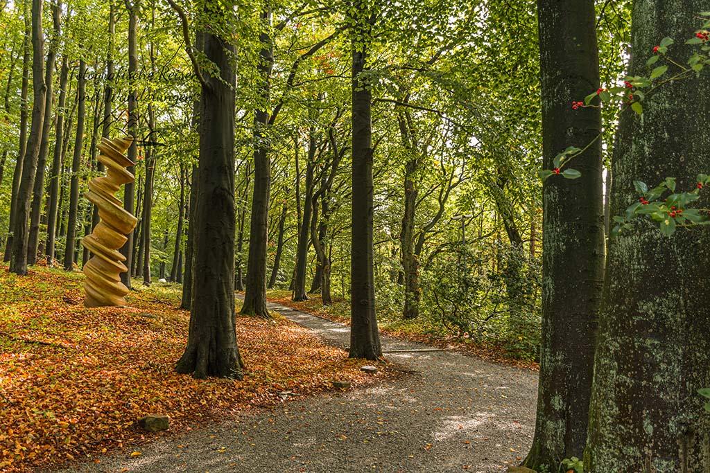 Waldwege im Skulpturenpark Waldfrieden