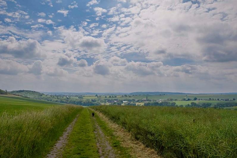 Feldweg Richtung Berg