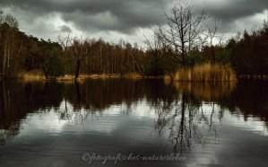 Ohligser Heide mit dramatischen Wolken