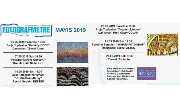 Mayıs 2019 Etkinlik programımız