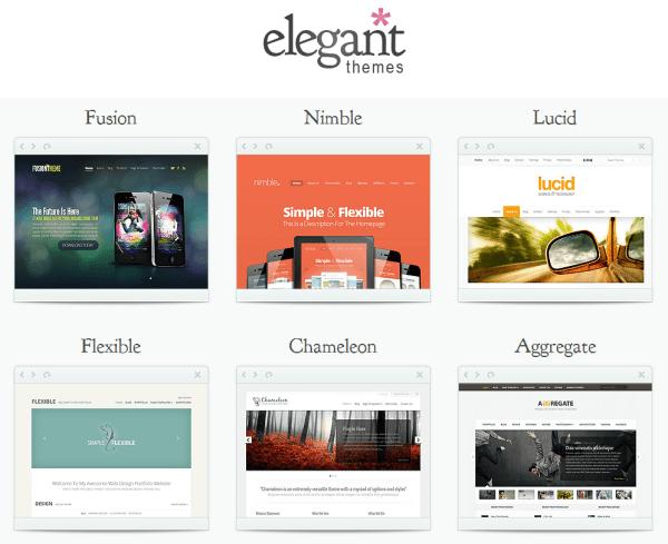 Elegant themes for wordpress