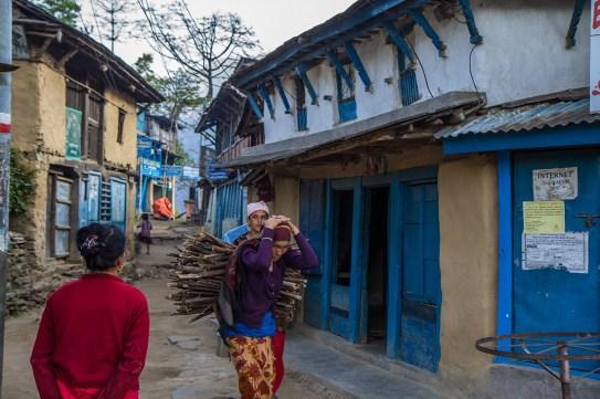 Una calle típica de una aldeas