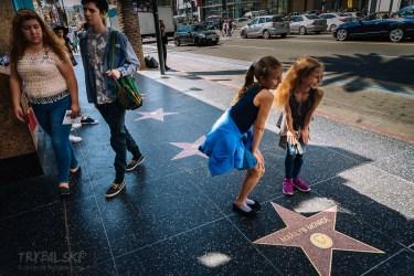 Hollywood Walk of Fame, straszny tłok!
