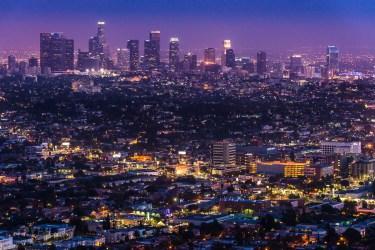 Widok na LA z tarasu obserwatorium Griffith